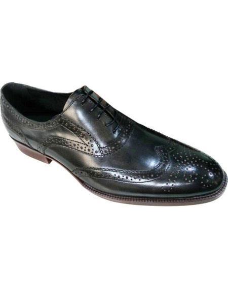 Men's Black Premium Soft Genuine leather Unique Zota Men's Dress Shoe