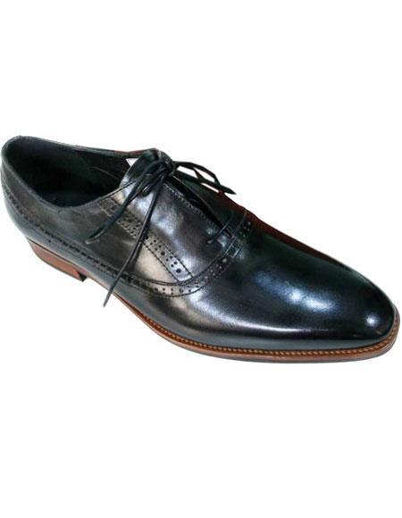 Men's Lace Up Black Unique Zota Men's Dress Shoe
