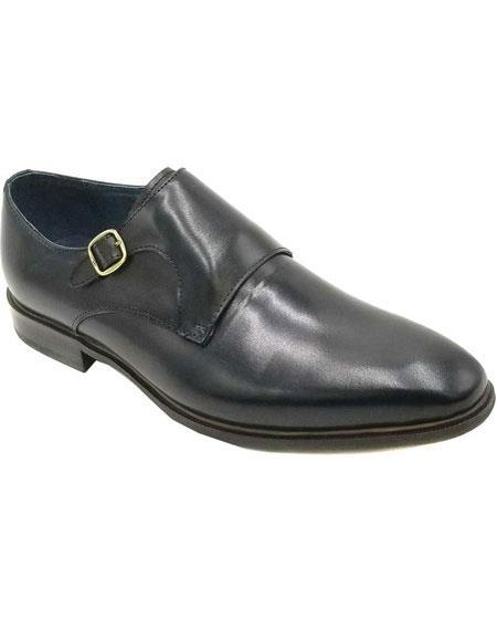 Men's Buckle Closure Black Unique Zota Men's Dress Shoe