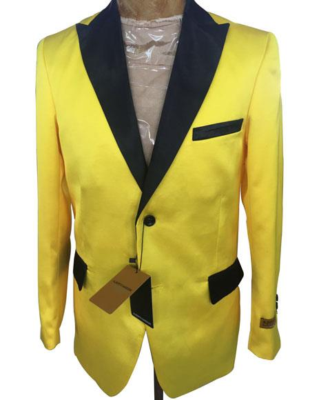 Mens Yellow Cheap Priced Designer Fashion Dress Casual Blazer On Sale Blazer