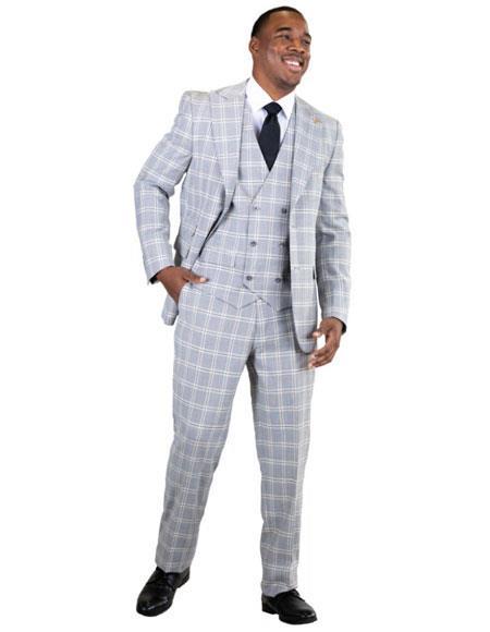 1930s Style Mens Suits 9012 Hank Vested $175.00 AT vintagedancer.com