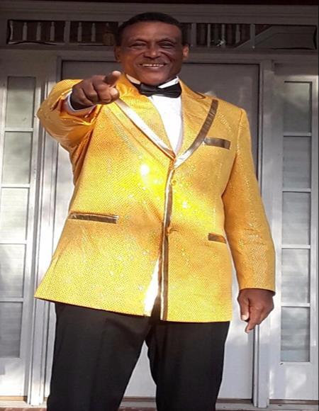 Men's Gold One Chest Pocket Cheap Priced Designer Blazer