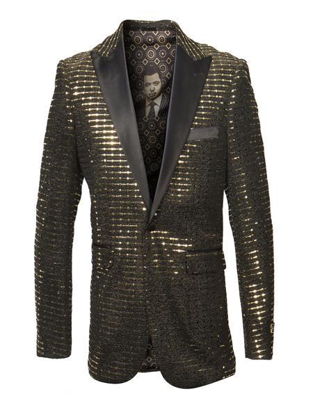 Mens Gold Cheap Priced Designer Fashion Dress Casual Blazer On Sale Fancy Pattern Blazer