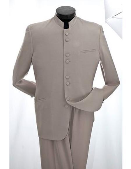 Mens Mandarin Tan ~ Sand  Tuxedo Suit