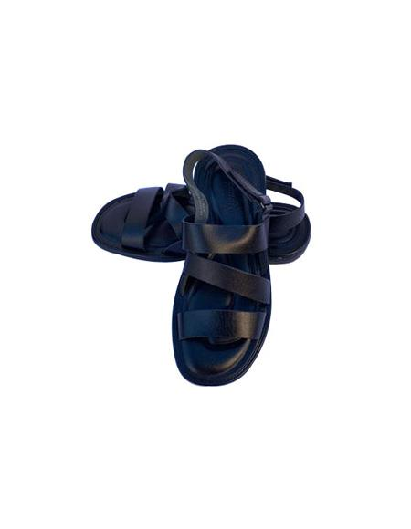 Mens Black Leather Sandals