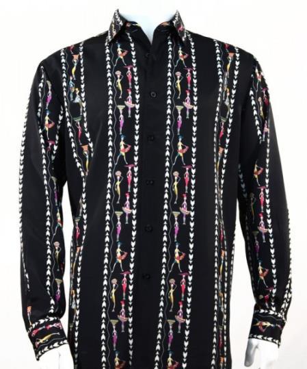 Mens Fratello French Cuff Dress Shirt Set Turquoise