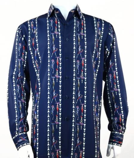 Mens Fratello Tone On Tone French Cuff Dress Shirt Set Black/White