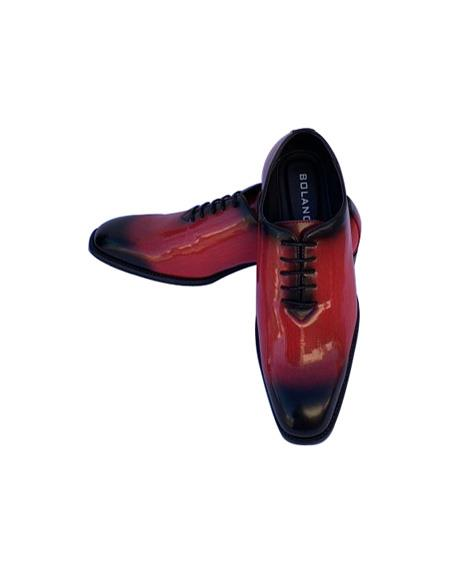 Mens Dress Shoes Black/Red