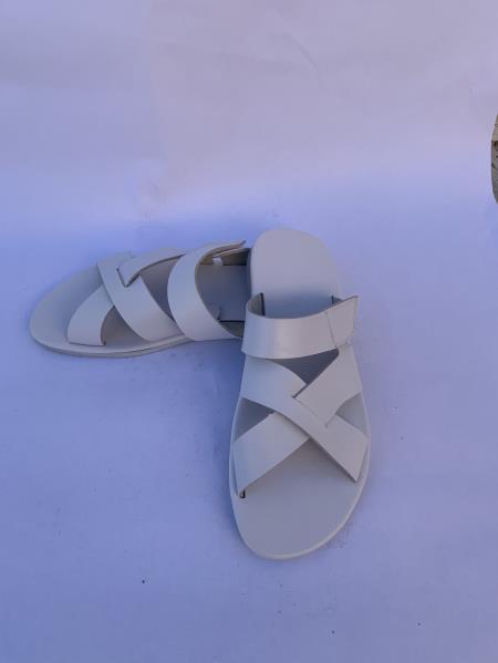 Mens Leather Gray Sandal
