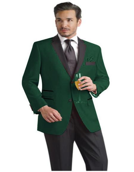 Men's Green Ticket Pocket Two Button Closure Cheap Priced Designer Fashion Dress Casual Blazer On Sale Blazer