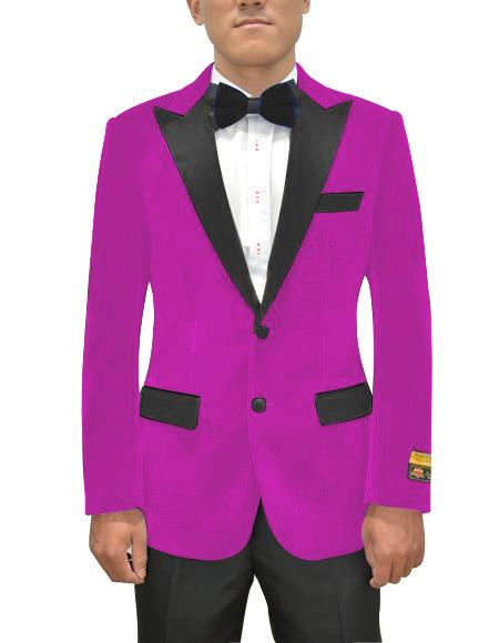 Magenta Color Violate  Light Purple Dark Pink Tuxedo Dinner Jacket Blazer By Alberto Nardodi Tuxedo Looking!