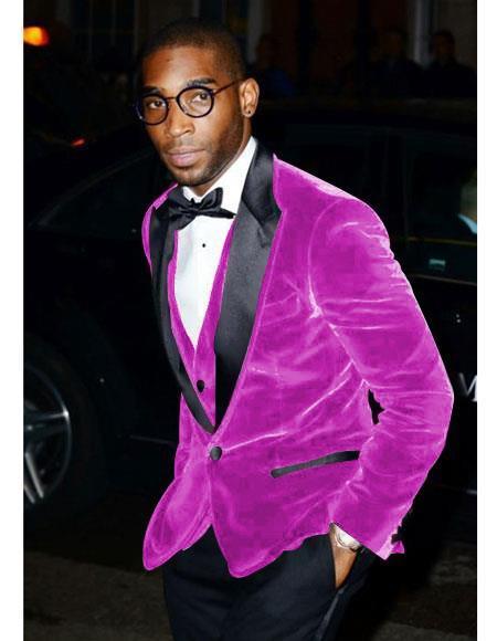 Mens Dark Pink One Chest Pocket Two Button Cheap Priced Designer Fashion Dress Casual Blazer On Sale Blazer