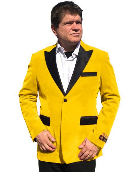 Men's Yellow One Chest Pocket Two Button Closure Cheap Priced Designer Fashion Dress Casual Blazer On Sale Blazer