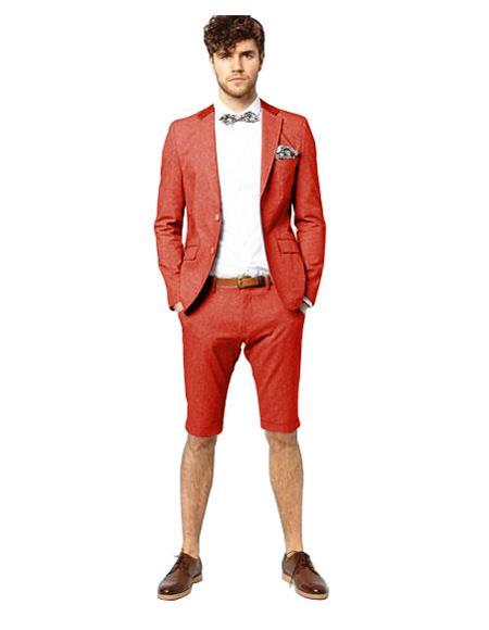 Men's Red Suit For Men