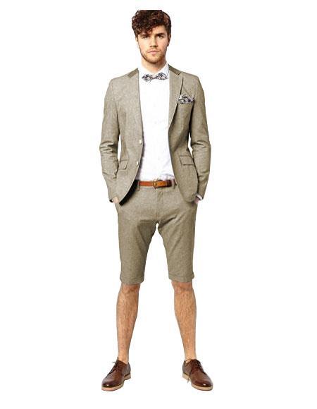 Men's Suit For Men Grey Two Button
