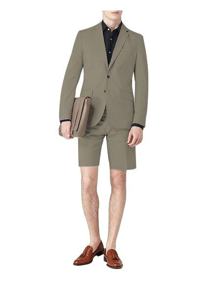 Mens Single Breasted Suit Grey