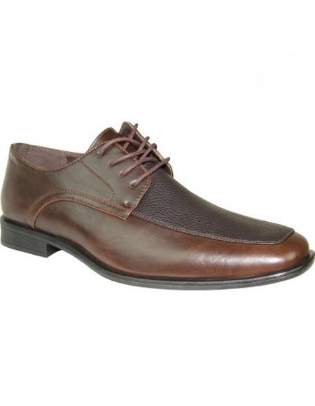 Mens Matte Brown Shoe Lace Up