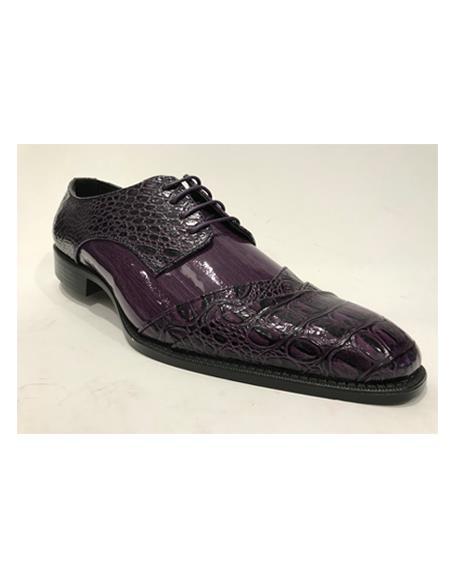 Men's Purple Cap Toe Shoes