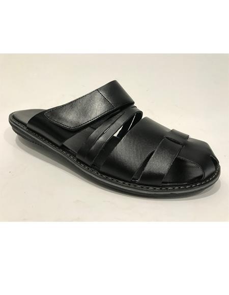 Mens Black Sandal