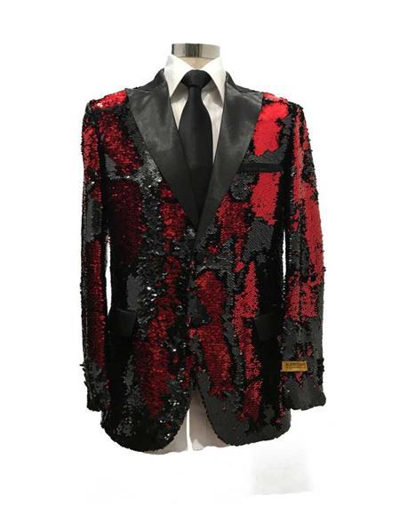 Men's  Peak Label Black/Red