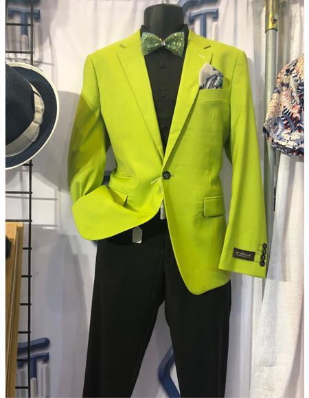 Mens Neon Green ~ Bright Lime Green Blazer ~ Sport Coat