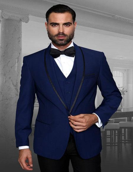 Encore V Navy 1-Button Shawl Tuxedo