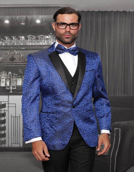 Bellagio Royal Blue 1-Button Notch Tuxedo