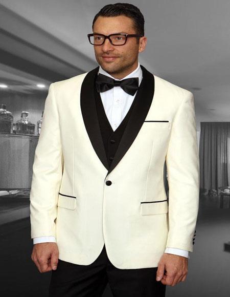 Encore Cream 1-Button Shawl Tuxedo
