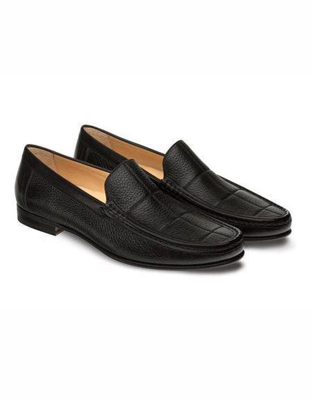 Men's Black Stylish Dress Loafer Design Slip On Shoe