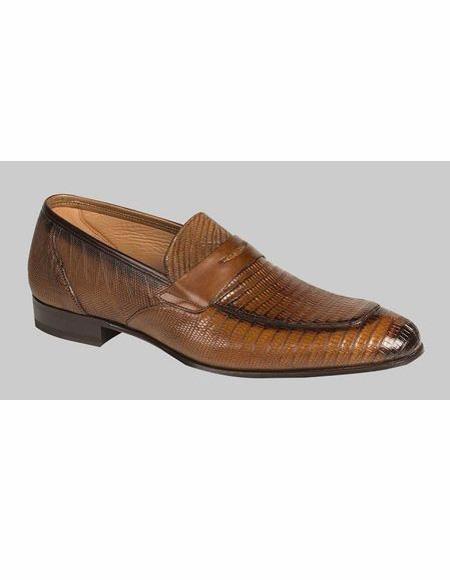 Mens Cognac Slip On Loafer Design Shoe