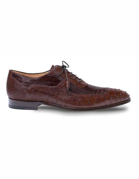 Mens Wingtip Style Leather Lining Brown Shoe