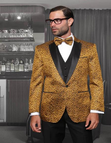 Bellagio Gold 1-Button Notch Tuxedo