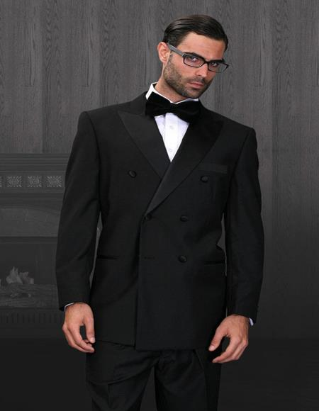 Wellington Black 6-Button Peak DB Tuxedo