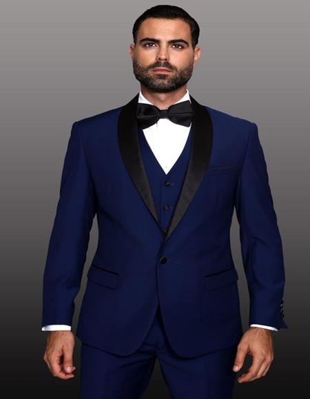 Theo Sapphire-1-Button Shawl Tuxedo