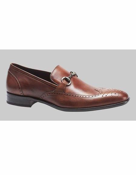 Mens Cognac Wingtip Style Shoe