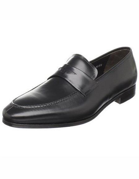 Men's Black Calfskin Leather Shoe