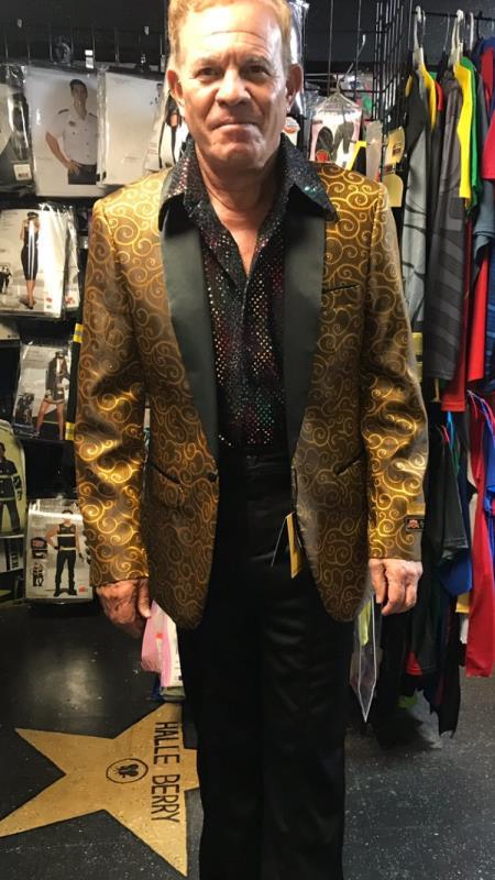 Men's Gold Blazer