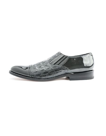 Men's Two Tone Shoes Grey