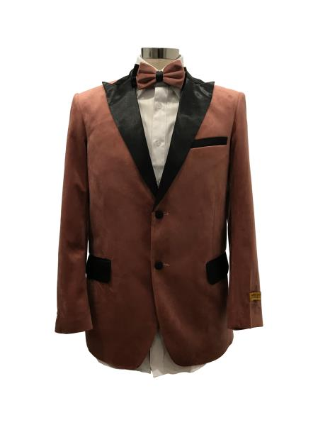 Mens Two Button Brown Suit