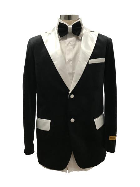Men's Two Button Black  Suit