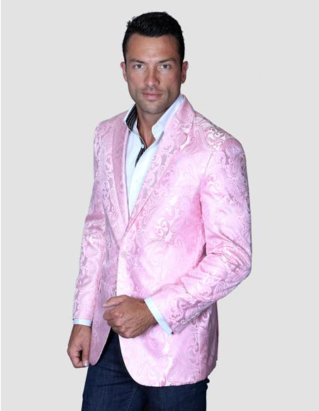 Mens Blazer Pre Order Floral Satin Shiny Fashion Blazer Dinner Jacket Paisley Sport Coat Flashy Stage Fancy Party Prom