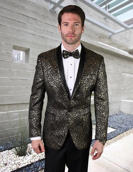 Mens Black One Button Single Breasted Suit or Tuxedo