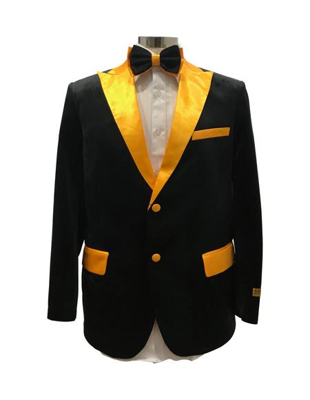 Men's  Peak Label Black ~ Yellow