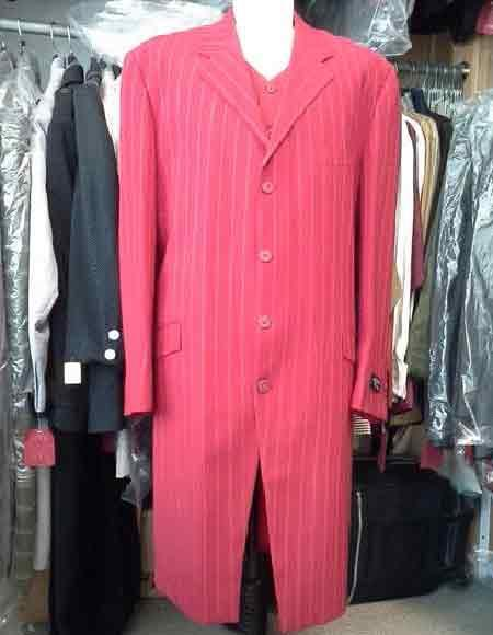 Mens Pink Maxi Zoot Suit Full Length Suit