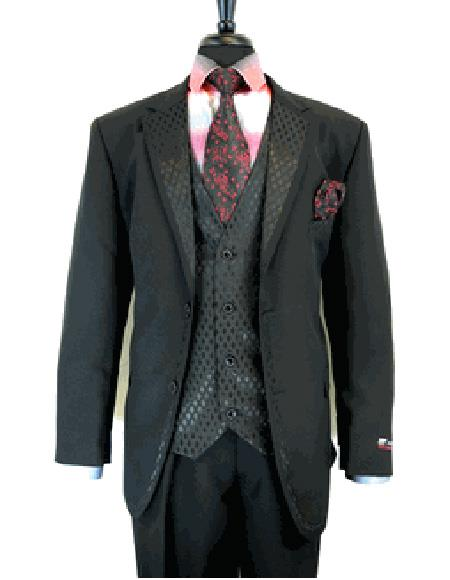 Black 2 Button  Suit