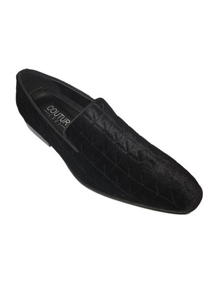 Men's Slip On Black Couture Tuxedo  Dress Shoe For Men Perfect for Wedding Ike Evening by Ike Behar Tuxedo Authentic Brand