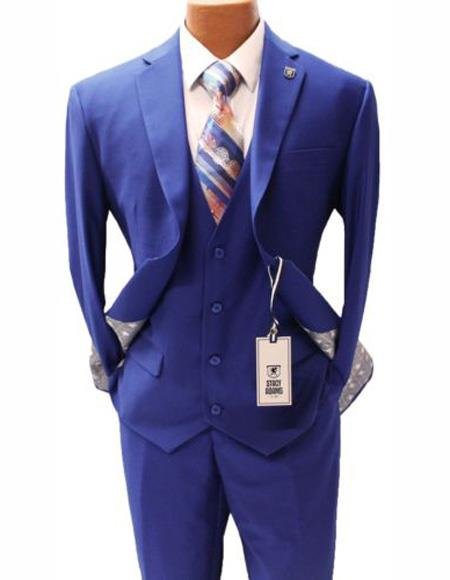 Mens Vested  Suit Two Button
