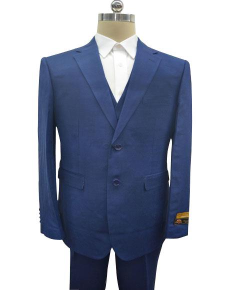 Linen-2BV Dark Navy Suit