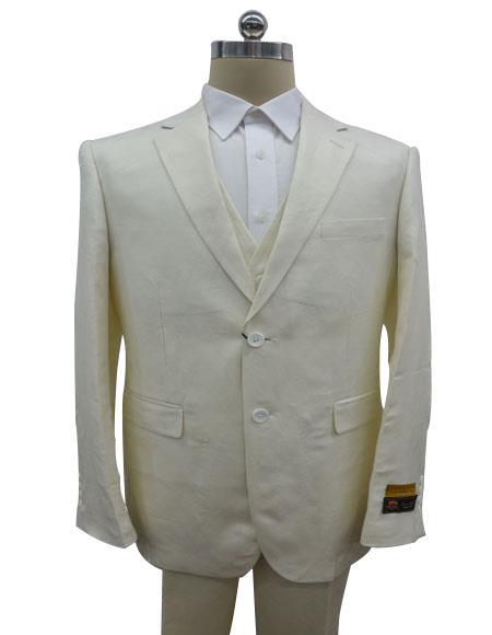 Linen-2BV Off White Suit