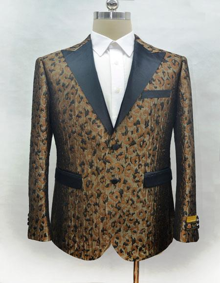 Men's Fashion Camo Ostrich looking Suit